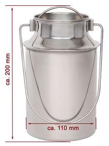 Beeketal Edelstahl Milchkanne, Artikel:BMK-3