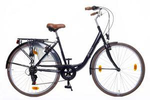 Amigo Style - Cityräder für Damen 28 Zoll - Damenfahrrad geeignet ab 180-185 cm - Citybike mit Shimano 6 Gang-Schaltung - Schwarz