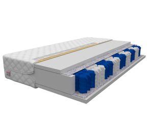 Matratze 90 x 200 cm TREVISO 7 Zonen Taschenfederkern Pocket H3 Höhe 16 cm