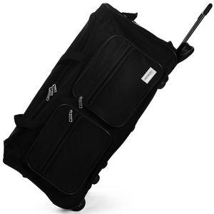 DEUBA® Reisetasche Sporttasche Reisekoffer Trolley Tasche Gepäcktasche 85-160 Liter, Farbe:Dunkelblau