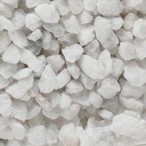 Natursteine, 1 - 4 mm, 1 kg Weiß