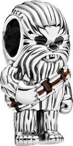Pandora x Disney Star Wars Charm 799250C01 Star Wars Chewbacca Silber 925 Braune Schwarze Emaille