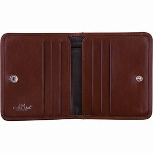 Golden Head Colorado Classic Billfold Coin Wallet With Front Flap Snap Closure Tobacco