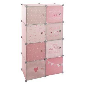Schrank für Kinderzimmer, 64 x 31 x 124 cm, Atmosphera for kids, Farbe:Rosa
