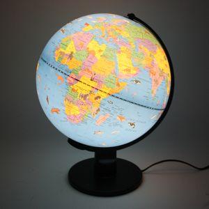 Globus Weltkugel mit Beleuchtung 30 cm Welt Karte Kugel