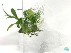 Ersatzglas für Grablaterne | Grablicht - Kathedral / Strukturglas - nach Wunschmaß -  180 mm x 65 mm