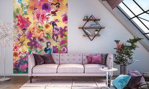 "Komar Digitaldruck Vliestapete ""Fairies Flowers"", bunt, 200 x 250 cm"