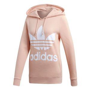 adidas Trefoil Hoodie Damen Sweatshirt Violett / Pink, Größe:34
