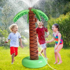 Sprinkler Spielzeug für Kinder,Wassersprinkler Garten Kinder,Sprinkler für Outdoor Garten,Wasserspielzeug Aufblasbare Palme für Sommer