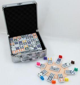 Longfield Games Mexican Train Domino Alu - Box 100 Stück