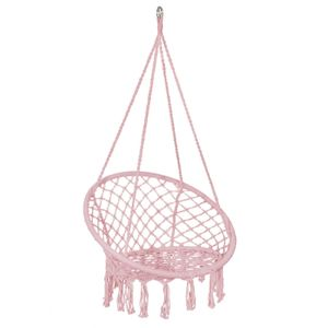 Hängesessel Hängeschaukel Hängekorb Hängestuhl Hängesitz Swing Sessel 150 kg - Rosa