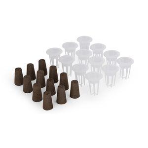 blumfeldt Urban Bamboo Refresh Kit Hydroponisches Pflanzsystem , Zubehör-Set: 12 x Pflanzkorb & 12 x Pflanzschwamm