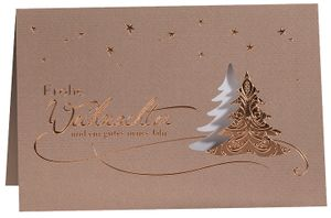 """RÖMERTURM Weihnachtskarte """"Kupferglanz"""""""