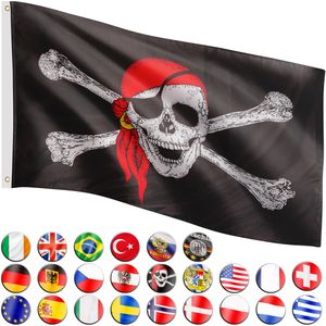 FLAGMASTER® Fahne Jolly Roger Pirat Piratenflagge