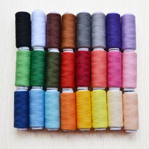 Nähgarn Set mit 24 Verschiedenen Farben, Hochwertiger Nähfaden Nähgarn Nähmaschinegarn aus Polyester, 200 Yards