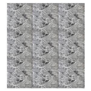 MECO 10 Stück / Set 70x77CM 3D Fliesen Ziegel Wandaufkleber Selbstklebende Schaumstoffplatte Tapete, Marmor Schwarz