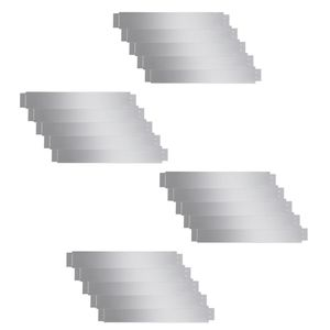vidaXL Flexible Rasenkante 20-er Set Verzinkter Stahl 100x14 cm