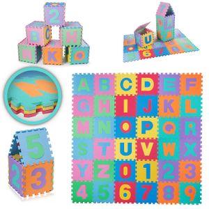 Baby Vivo EVA-Puzzlematte / Spielmatte für Kinder 190 x 190 cm - mit Buchstaben und Zahlen