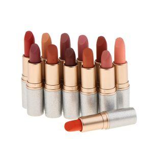 12 Farben Matt Lippenstift Lipgloss Set, 12pcs Lippenstifte Matte Lipsticks Dauerhaft und Wasserdicht Make up Set
