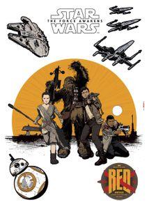 """Komar Deco-Sticker """"Star Wars Resistance"""" 50 x 70 cm, gelb/schwarz, 14025h"""