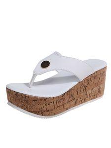 Abtel  Damen Hausschuhe Wedge Sandalen Open Toe Sandalen Party Kleid Schuhe,Farbe: Weiß,Größe:42