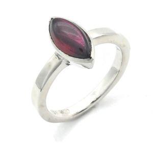Granat Ring 925 Silber Sterlingsilber Damenring rot (MRI 138-02),  Ringgröße:53 mm / Ø 16.9 mm