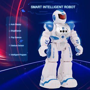 Intelligente intelligente Roboter p?dagogische RC Spielzeug programmierbare Geste Sensor Music Dance f°îr Kinder Geschenk