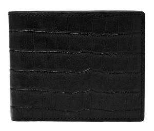 FOSSIL Darcy Large Coin Pocket Bifold Black