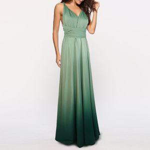Frauen Cabrio Kleider Maxi Kleid Multi Way Ombre Abend Flowy Brautjungfer Party Cocktail Neujahr Formal Long Dress[gruen-L]