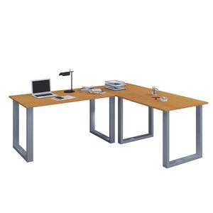"""VCM Eckschreibtisch Schreibtisch Büromöbel Computertisch Winkeltisch Tisch Büro """"Lona"""" 160 x 190 x 80 cm: Buche"""