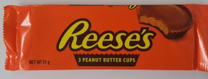 Hershey Reeses 3 Peanut Butter Cups Orginal USA Ware !