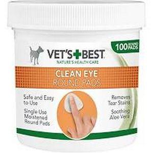 Vets Best Clean Augen Pads Rund (100 Pads/Dose) TR187 (Einheitsgröße) (Weiß)