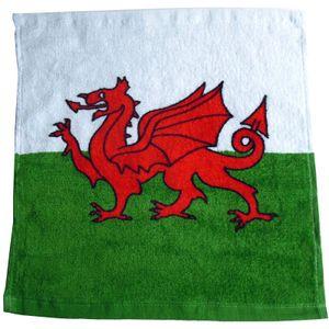 Wales Gesicht-Handtuch SI268 (Einheitsgröße) (Rot/Grün/Weiß)