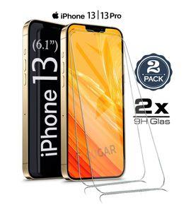 """2X iPhone 13 (6.1"""") / iPhone 13 Pro (6.1"""") Panzerglas Glasfolie Display Schutz Folie Glas 9H Hart Echt Glas Displayschutzfolie 2 Stück"""