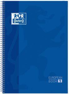 Oxford Collegeblock European Book 1 DIN A4+ kariert blau 80 Blatt