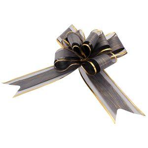 Oblique Unique Geschenkschleife Deko Schleifen für Geschenke uvm - schwarz gold
