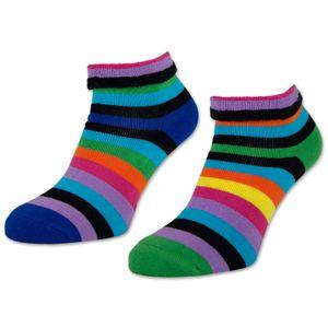 2 I 4 I 6 Paar Damen THERMO Socken mit Innenfrottee warme Wintersocken Bunte Ringel Umschlagsocken 12790 - 2 Paar Farbmix 35-38