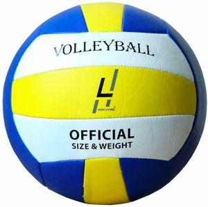 Highliving ® Volleyball Kunstleder Soft Touch Volleyball für Outdoor Indoor Stra