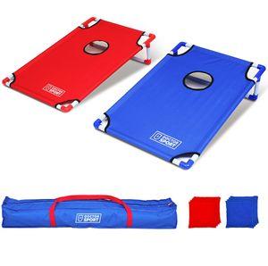 Doppel-CORNHOLE-Set Blau-Rot in Trage-Tasche  Spitzenqualität