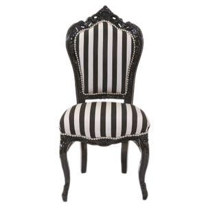 Barock Stuhl Barockstuhl Schwarz Weiß Armlehnstühle Esszimmer Wohnzimmer Büro Royal Luxus Modern Zebra TOP