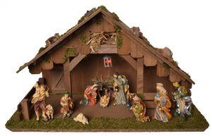Krippe WEIHNACHTSFREUDE Holzkrippe Weihnachtskrippe Weihnachten Krippenstall klein