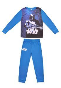 Star Wars Stormtrooper Schlafanzug Pyjama-Set Oberteil und Hose, Farbe:Blau, Größe:116