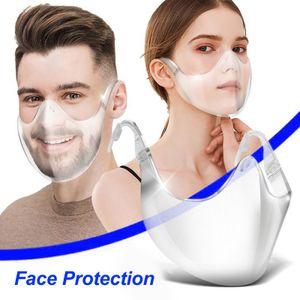 Masken Mundschutz Waschbar Durchsichtiger Mundschutz Gesichtsschutz Transparente Vollmaske Sport Perfekte Passform für wiederverwendbares Gesicht Waschbar