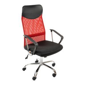 SIGNAL Drehsessel, Computerstuhl, Chefsessel, Bürostuhl, Schreibtischstuhl, Rückenlehne, Armlehnen, höhenverstellbar, Farbe:rot
