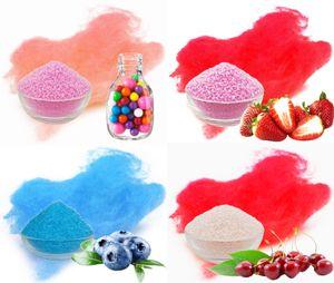 Aromazucker für bunte Zuckerwatte 4x250g Set mit Geschmack | Bubble Gum - Rosa,  Erdbeer - Rot, Heidelbeere - Blau, Kirsche - Rot | Farbzucker Zucker für Zuckerwatte Zuckerwattemaschine Zuckerwattezucker