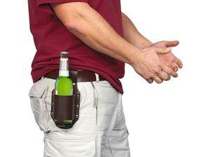 Bierhalter für Gürteltasche Bier Holster  Leder
