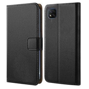 Handytasche für Xiaomi Redmi 9C / 9C NFC Schutz Hülle mit Aufstellfunktion Handyhülle Klapp Tasche Etui mit Kartenfächer Flip Cover TPU innen Schale