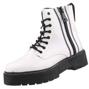 TOM TAILOR Damen Stiefeletten Weiß, Schuhgröße:EUR 38