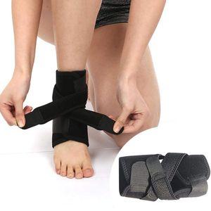 Fußbandage mit Verstärkung Sprunggelenkbandage Knöchelbandage verstellbare Fußgelenkbandage mit Klettverschluss