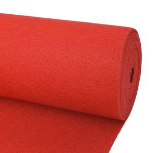 anlund Messeteppich Glatt 1x12 m Rot